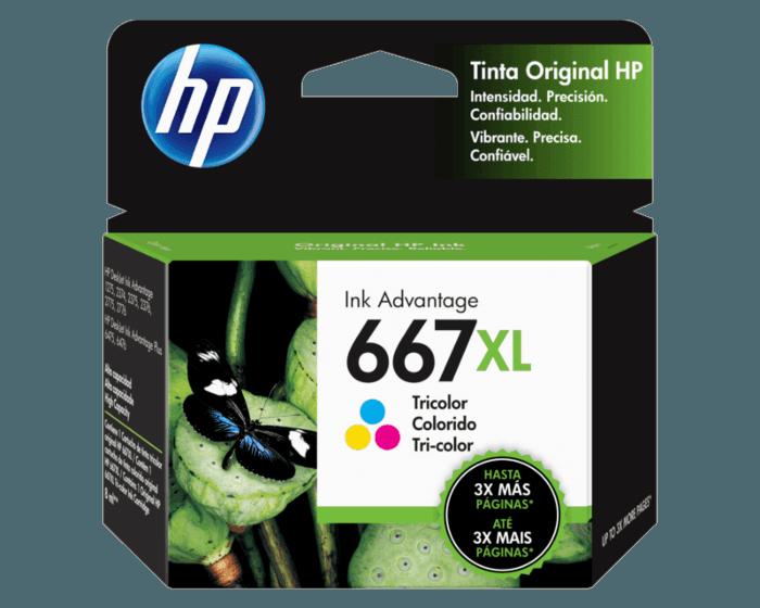 Cartucho de Tinta HP 667XL Tricolor Original