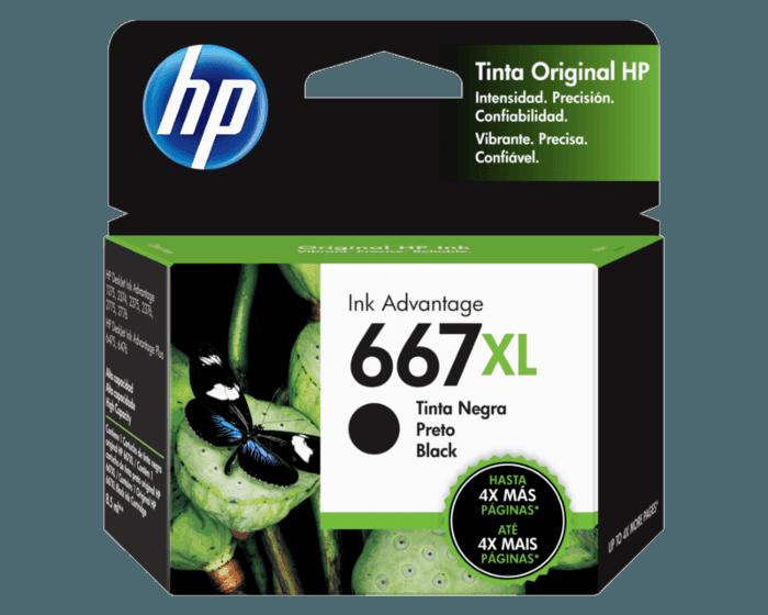 Cartucho de Tinta HP 667XL Negra Original