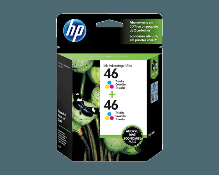 Pack de 2 Cartuchos de Tinta HP 46 Tricolor Original