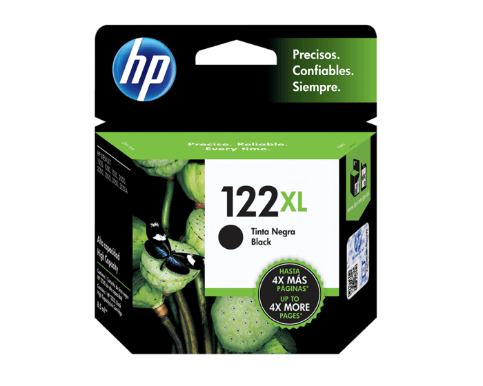 Cartucho de Tinta HP 122XL Negra Original