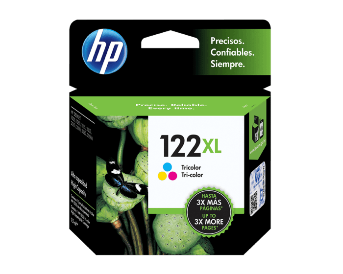 Cartucho de Tinta HP 122XL Tricolor Original