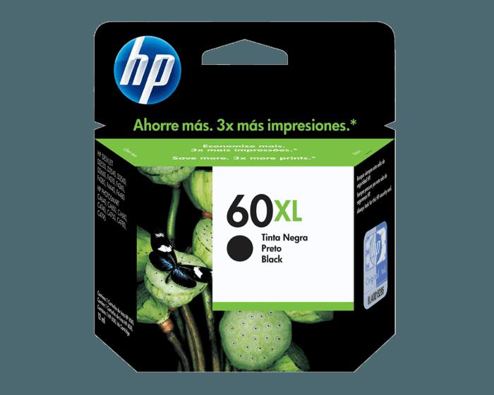 Cartucho de Tinta HP 60XL Negra Original