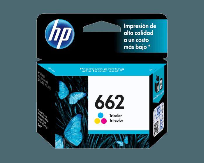 Cartucho de Tinta HP 662 Tricolor Original