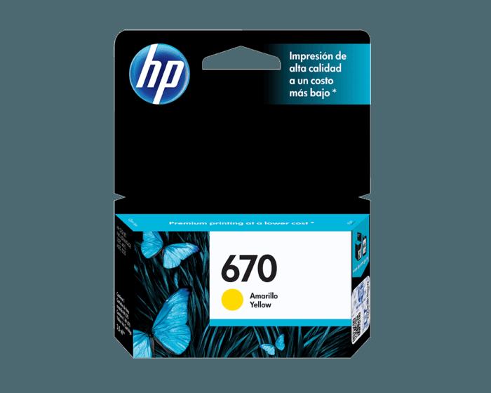Cartucho de Tinta HP 670 Amarilla Original