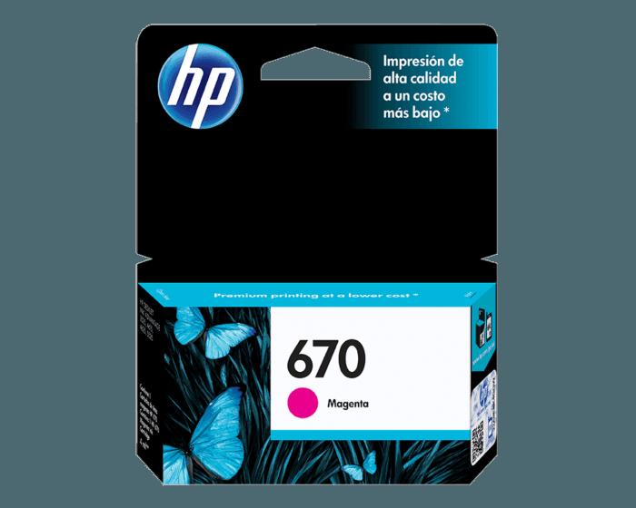 Cartucho de Tinta HP 670 Magenta Original