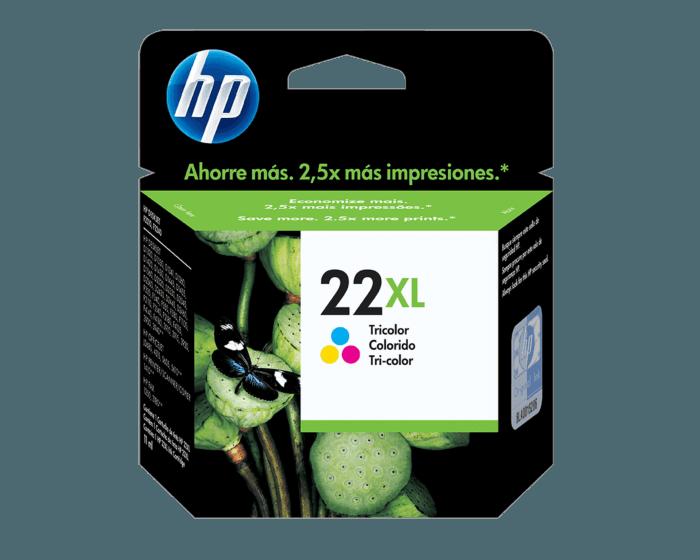 Cartucho de Tinta HP 22XL Tricolor Original