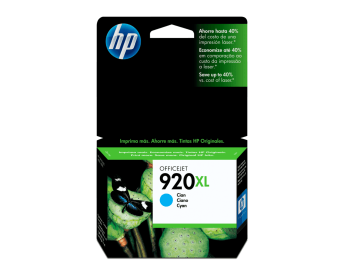 Cartucho de Tinta HP 920XL Cian Original