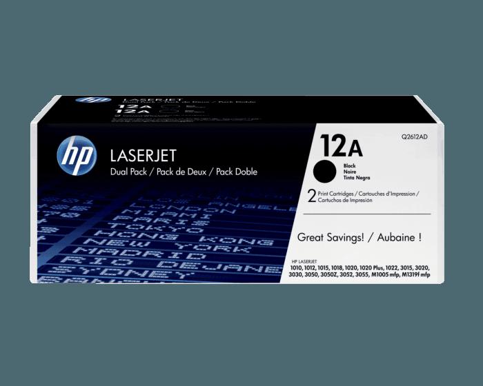 Pack de 2 Cartuchos de Tóner HP 12A Negro LaserJet Original