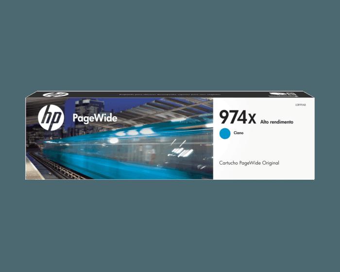 Cartucho de Tinta HP 974X Cian PageWide Original