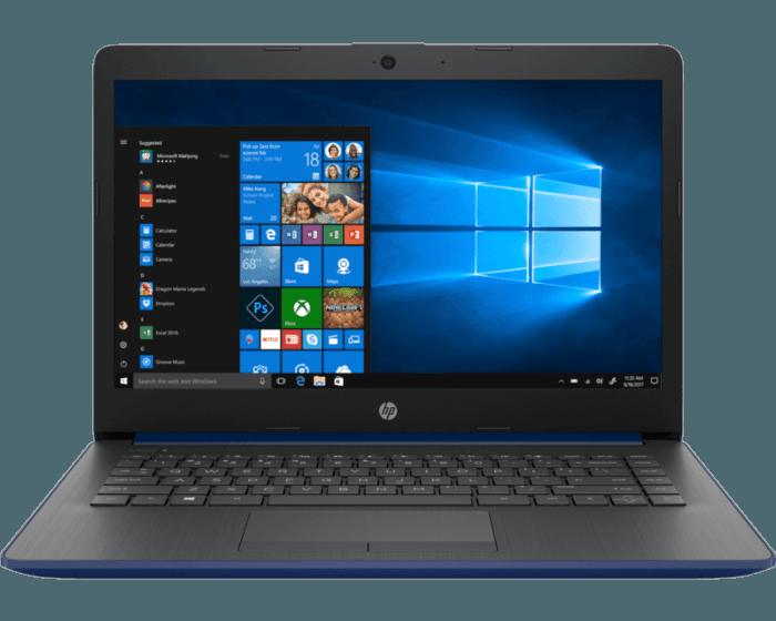 Combo Portátil HP 14-cm0021la + Mouse inalámbrico HP 200 + Audífonos Intraaurales HP 100 + Funda de Neopreno HP Negra/Azul de 14