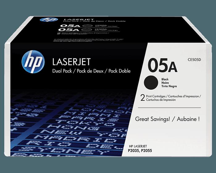 Pack de 2 Cartuchos de Tóner HP 05A Negro LaserJet Original