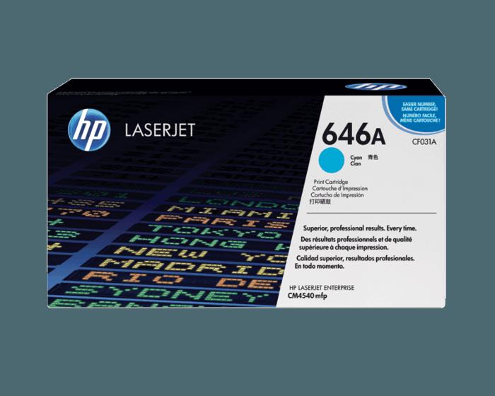 Cartucho de Tóner HP 646A Cian LaserJet Original