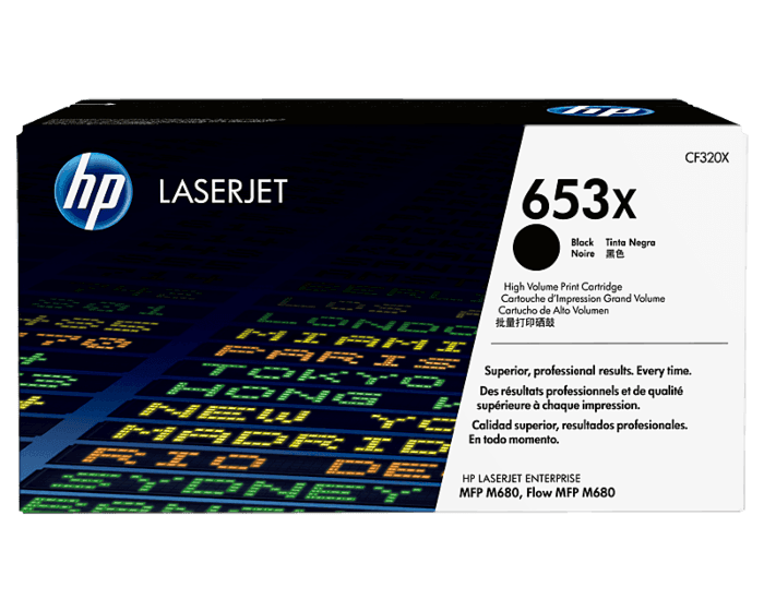 Cartucho de Tóner HP 653X Negro Alto Rendimiento LaserJet Original