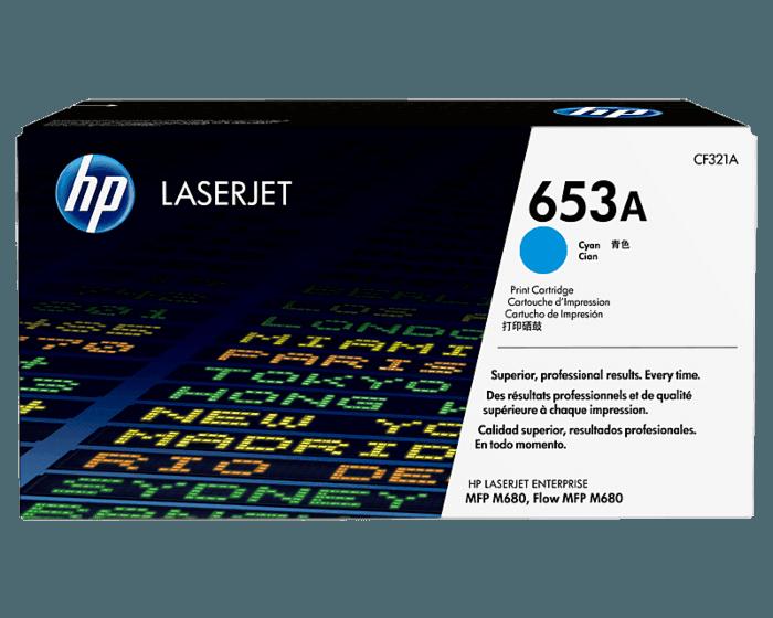 Cartucho de Tóner HP 653A Cian LaserJet Original
