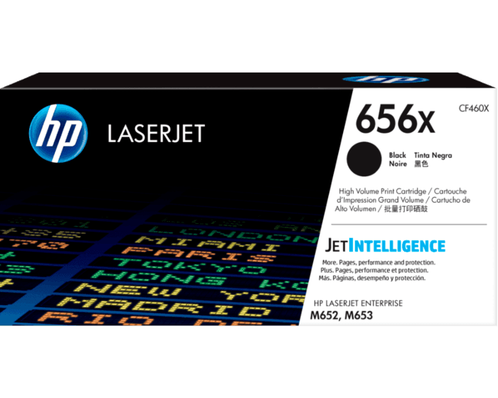 Cartucho de Tóner HP 656X Negro Alto Rendimiento LaserJet Original