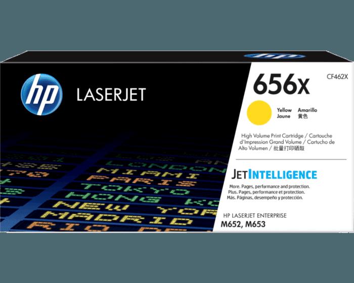 Cartucho de Tóner HP 656X Amarillo Alto Rendimiento LaserJet Original