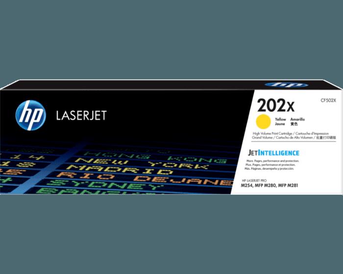 Cartucho de Tóner HP 202X Amarillo Alto Rendimiento LaserJet Original