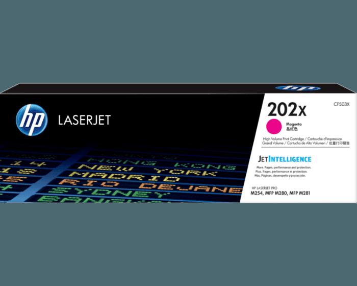 Cartucho de Tóner HP 202X Magenta Alto Rendimiento LaserJet Original