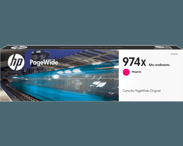 Cartucho de Tinta HP 974X Magenta PageWide Original