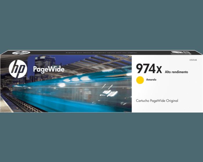 Cartucho de Tinta HP 974X Amarilla PageWide Original