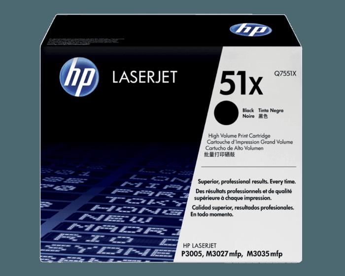 Cartucho de Tóner HP 51X Negro Alto Rendimiento LaserJet Original