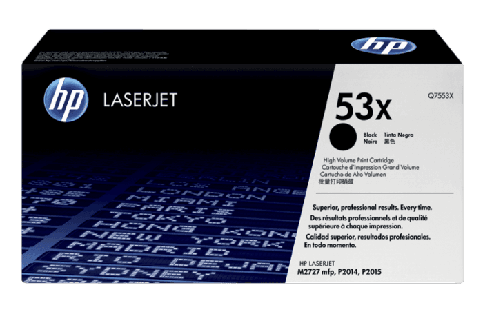 Cartucho de Tóner HP 53X Negro Alto Rendimiento LaserJet Original