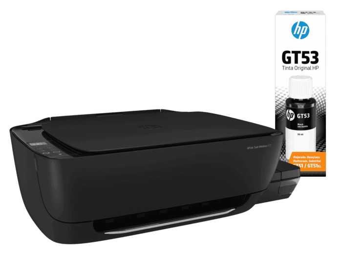 Combo Impresora HP Ink Tank Wireless 415 + Botella de Tinta HP GT53 Negra Original