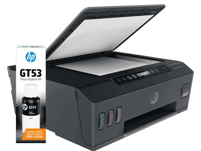 Combo Impresora Multifuncional HP Smart Tank 515 + Botella de Tinta HP GT53 Negra Original