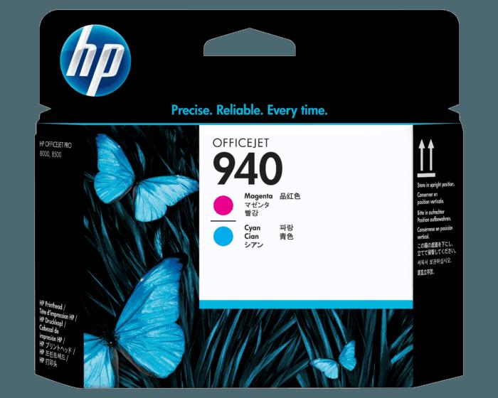 Cabezal de Impresión HP 940 Magenta y Cian