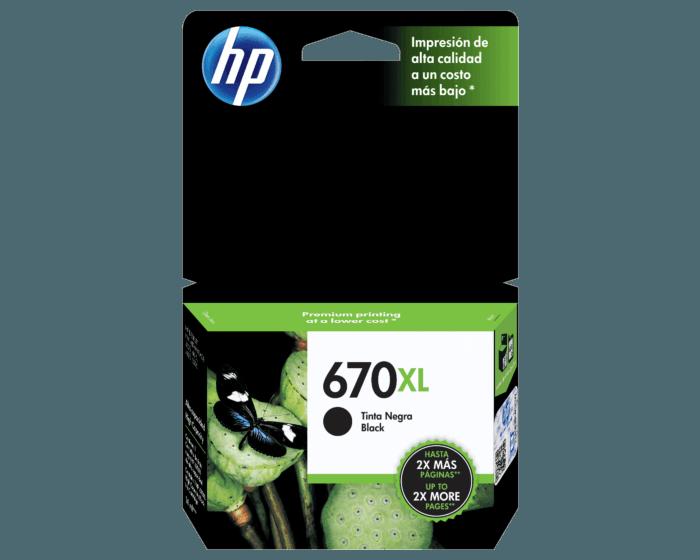 Cartucho de Tinta HP 670XL Negra Original