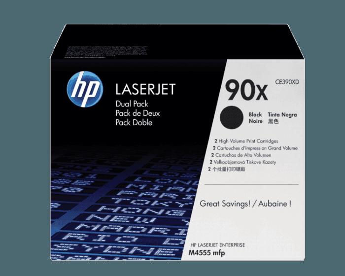 Pack de 2 Cartuchos de Tóner HP 90X Negro Alto Rendimiento LaserJet Original