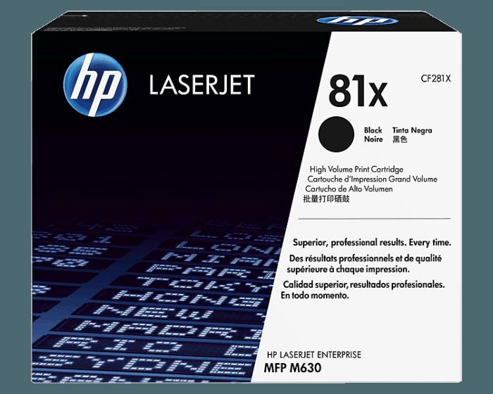 Cartucho de Tóner HP 81X Negro Alto Rendimiento LaserJet Original