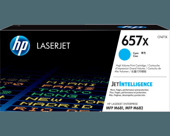 Cartucho de Tóner HP 657X Cian Alto Rendimiento LaserJet Original