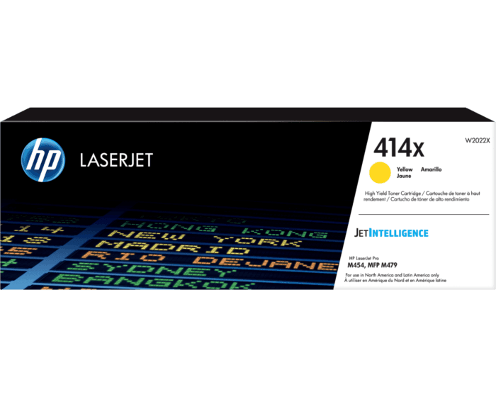 Cartucho de Tóner HP 414X Amarillo Alto Rendimiento LaserJet Original