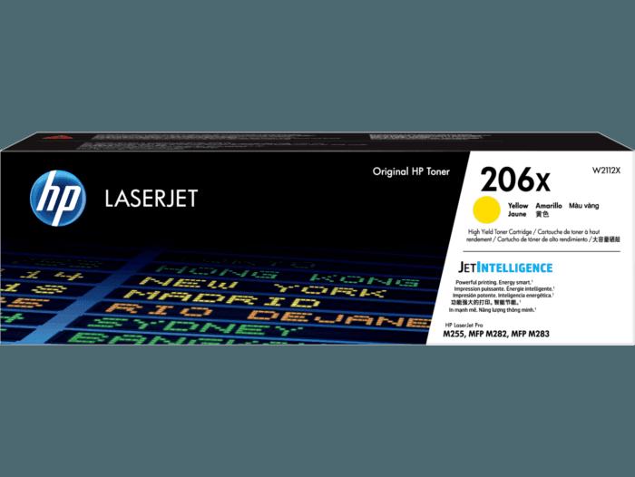 Cartucho de Tóner HP 206X Amarillo Alto Rendimiento LaserJet Original