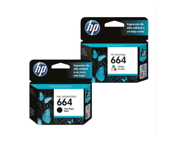 Pack de Cartuchos de Tinta HP 664 Ink Advantage Negro + Tricolor