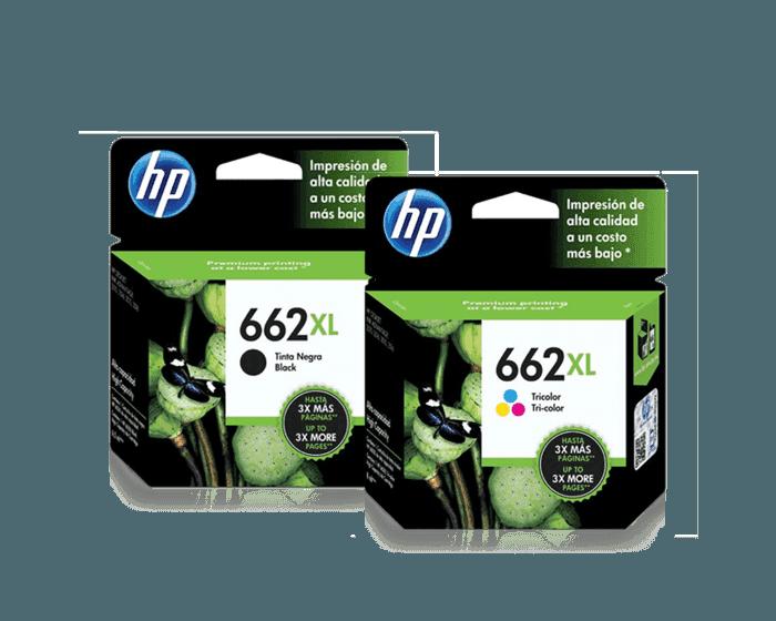 Pack de Cartuchos de Tinta HP 662XL Negro + Tricolor
