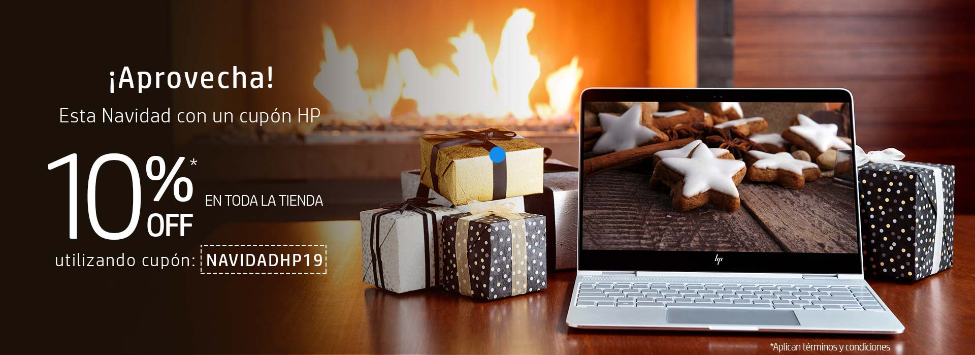 ¡Aprovecha esta navidad con cupón HP! 10% en toda la tienda HP Online Colombia utilizando cupón NAVIDADHP19