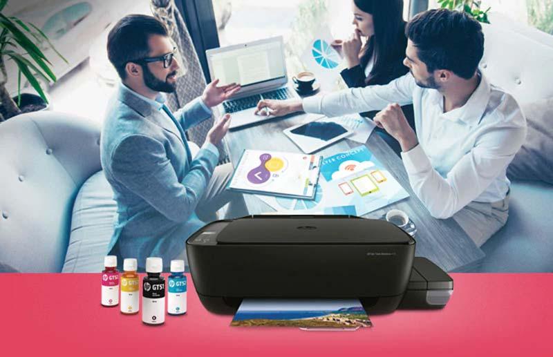 Impresora multifuncional con botellas de tinta HP